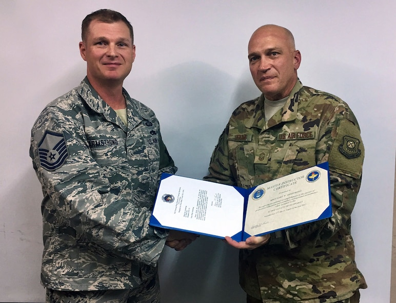 Armstrong earns AETC Master Instructor certificate