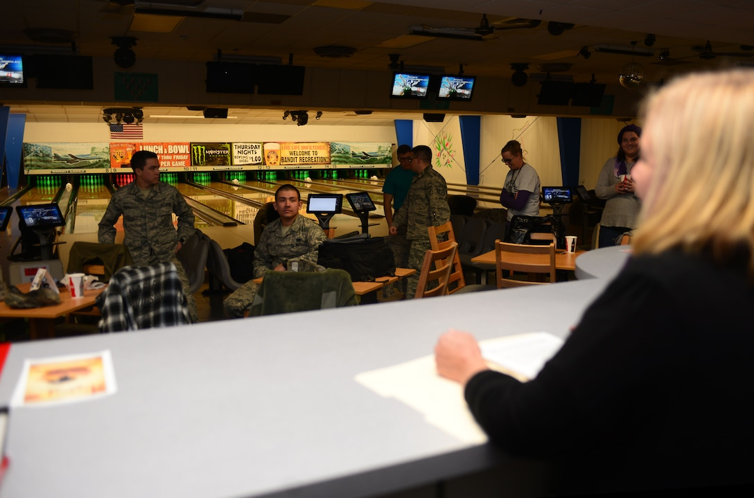 October is Domestic Violence Awareness Month and the Family Advocacy Program held a bowling event as a unique way to bring awareness to the base community and provide a safe environment for victims to speak with advocates.