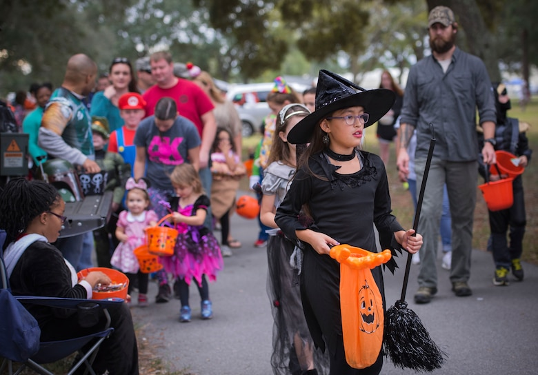 Base families turn out for the annual Trunk or Treat Fall Fest. The family friendly event hosted by the 96th Force Support Squadron featured a trunk or treat, hay rides, carnival games, slides, climbing walls and much more.