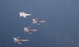 The Wisconsin Air National Guard's 115th Fighter Wing, U.S. Air Force's 8th FW and Republic of Korea Air Force's 38th Fighter Group took to the skies together Oct. 30, 2017 to demonstrate their ability to Fight Tonight in the skies above the Korean Peninsula.