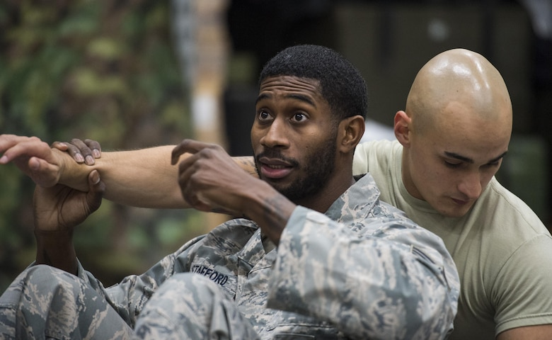 52nd SFS receives combatives training