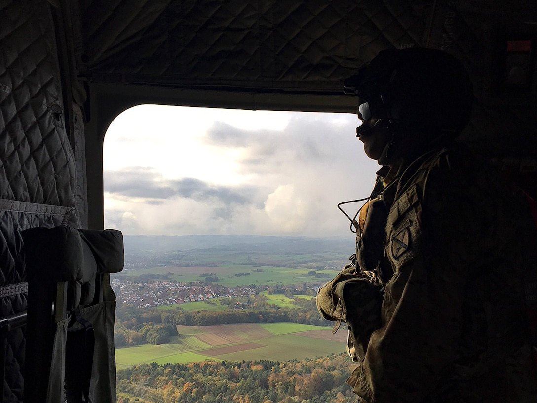 Airmen from the 424th Air Base Squadron, a geographically separated unit of Ramstein's 86th Airlift Wing, supported a rotation of a U.S. Army Combat Aviation Brigade on Chièvres Air Base, Belgium, Oct. 20, 2017, and supported throughout the duration of Operation Atlantic Resolve at Powidz Air Base, Poland.