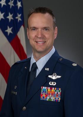 Lt. Col. Nate Flint, official photo, U.S. Air Force