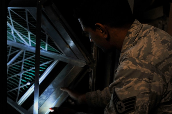HVAC Airmen solve maintenance problems through use of wiring, schematic drawings and analyzing construction.