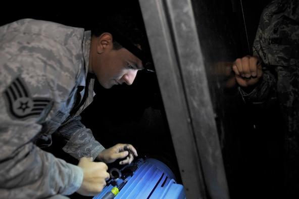 The HVAC shop maintains more than $30 million worth of HVAC units around the base.