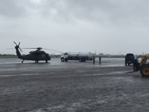 Airmen from the 136th Airlift Wing, Texas Air National Guard, airlift victims of Hurricane Harvey to safety and bring in supplies, personnel, and equipment into hard-hit areas, August 31, 2017. Airmen from the wing's 136th Airlift Control Flight have been working around the clock airlifting 290 tons of cargo and 468 evacuees since first tasked on August 28. (U.S. Air National Guard courtesy photo)