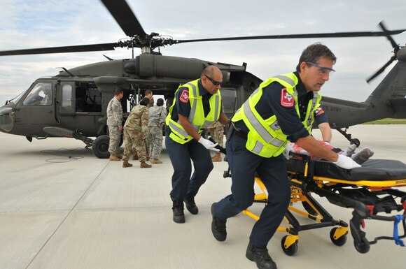 Army Reserve Aviation Command helps evacuate Nursing Home during aftermath of Hurricane Harvey