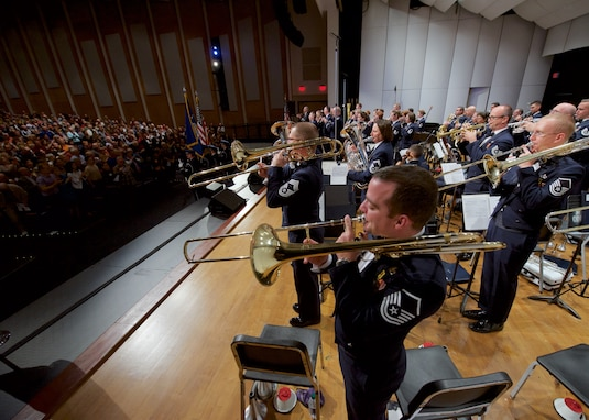 The Concert Band and Singing Sergeants frequently perform for standing room only audiences nationwide. (U.S. Air Force photo/Chief Master Sgt. Bob Kamholz)
