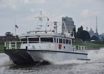 The U.S. Army Corps of Engineers' Marine Design Center managed construction of the Survey Vessel CATLETT for the USACE Baltimore District. The vessel, delivered in July of 2017, uses the latest technology to primarily survey channels associated with the Port of Baltimore.