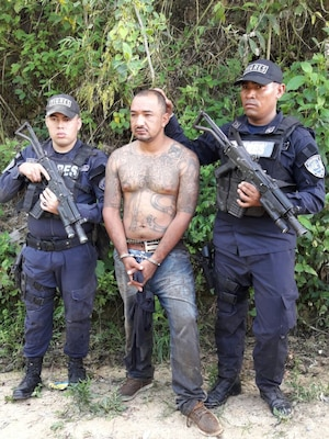 Honduran police in May 2017 arrest a MS 13 member accused of leading groups in the rural areas outside of San Pedro Sula, where the gang presence has been expanding to control drug trafficking routes.