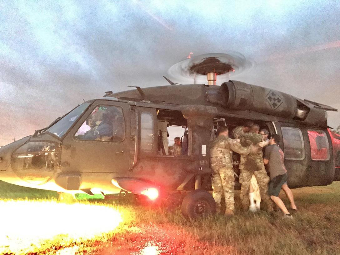 U.S. Army Reserve aviators respond to Hurricane Harvey