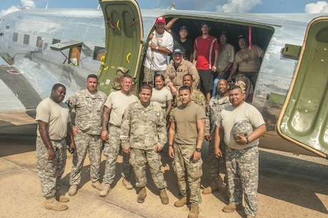 Commemorative Air Force delivers supplies to Conroe
