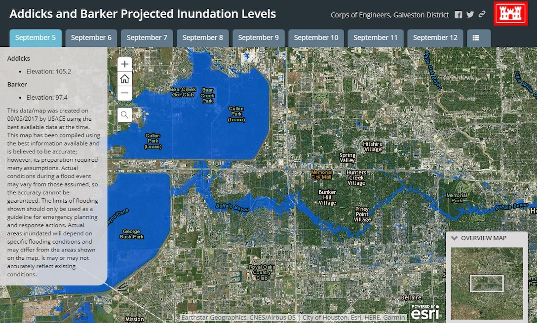 Users can use this GIS based product to assist in seeing where floodwaters will recede from in the coming days. This map has been compiled using the best information available and is believed to be accurate; however, its preparation required many assumptions. It may or may not accurately reflect existing conditions.