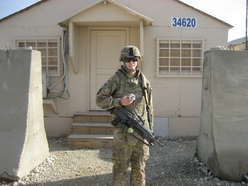 Army Staff Sgt. Jennifer Kirim who's currently assigned at the Black Canyon Recruiting Center in Phoenix, poses while deployed in Afghanistan in 2012, while at the rank of specialist. Kirim deployed to Afghanistan with the 101st Airborne Division as a recovery mechanic. Courtesy photo