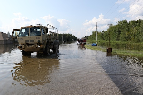 373rd CSSB Conducts High Water Rescue Missions