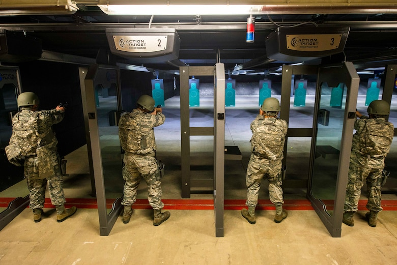 The Scott Air Force Base shooting range has been re-opened after significant upgrades were made to the equipment and stalls Aug.22 at Scott AFB, Ill.