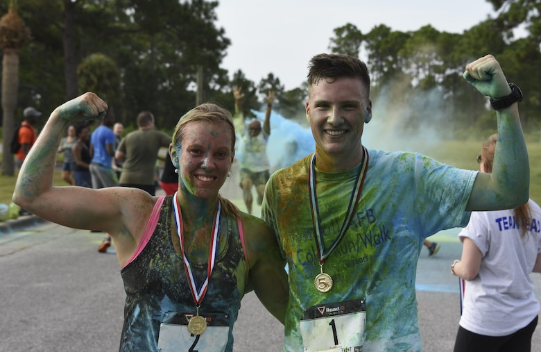 – In a multi-tiered effort to raise esprit de corps, community outreach, and raise money for the 2017 Tyndall Air Force Ball, Tyndall hosted its second annual 5K color run/walk Aug. 26, 2017.