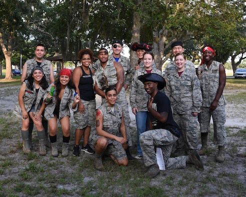 Tyndall hosted its annual combat dining-in event in Heritage Park on Tyndall Air Force Base, Florida, Aug. 25, 2017.