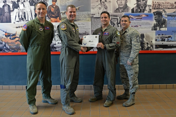 """Capt. Sebastian Constable, 434th Flying Training Squadron T-6 Texan II instructor pilot, was chosen by wing leadership to be this week's """"XLer,"""" at Laughlin Air Force Base, Texas, Aug. 28, 2017."""
