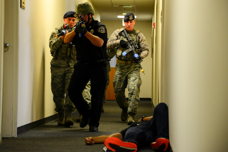 Run, hide, fight – Fairchild conducts active shooter exercise