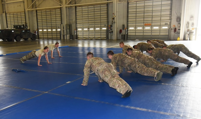 Members of the 90th Security Forces Group participated in their annual combative training here, Sept. 5.