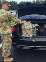 Florida Army National Guardsman Sgt.1st Class Frank Coger prepares for activation in support of Hurricane Irma.