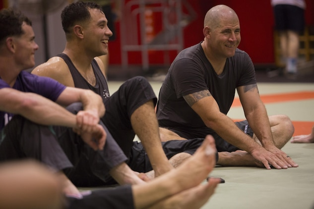 marine rest during mma clinic