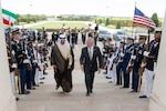 Secretary Mattis greets Kuwaiti counterpart at the Pentagon.