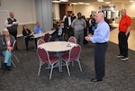 Defense Logistics Agency Installation Support at Richmond Installation Emergency Manager William Bullock advises employees on safety strategies during the annual tornado drill held March 21, 2017 at Defense Supply Center Richmond, Virginia.