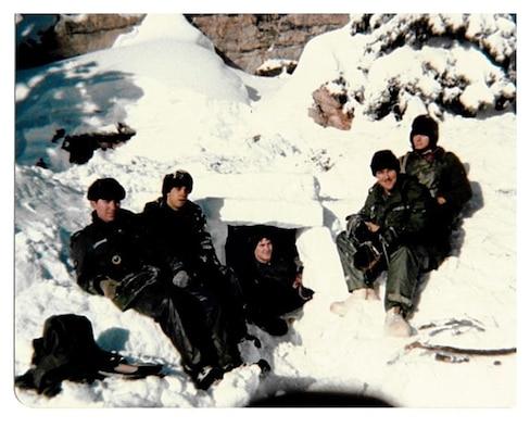 Liz in SERE arctic training