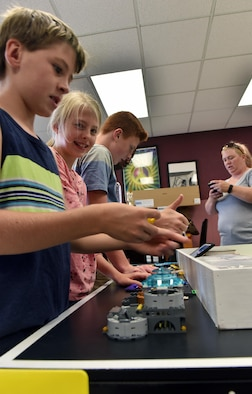 Members of Whiteman's FIRST® LEGO® robotics team gathered for their second meeting at Whiteman Air Force Base, Mo., Aug. 31, 2017.