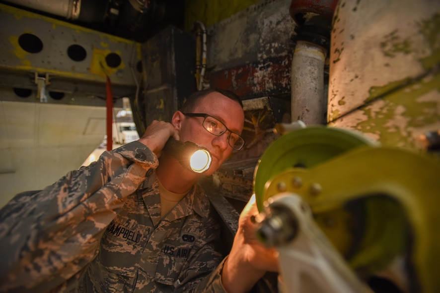 Senior Airman Xavier Campbell, an Electro-Environmental Journeyman with the 912th Aircraft Maintenance Squadron Bomber Aircraft Maintenance Unit, is the 412th Test Wing's Warrior of the Week.
