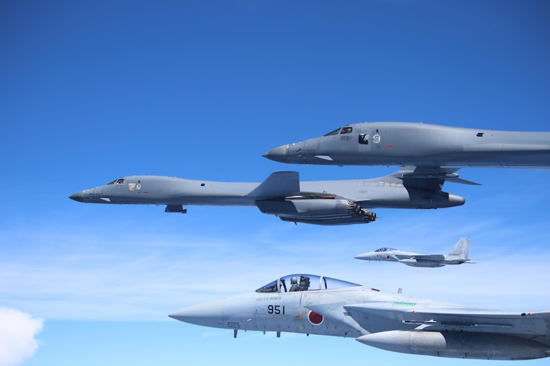 U.S. Air Force B-1B Lancers integrate with JASDF for training mission