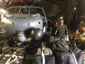 Airmen of New York's Air National Guard 105th Airlift Wing and 106th Rescue Wing are teaming up to respond to Hurricane Irma, Sept. 9, 2017. The 105th is transporting rescue helicopters and crews to the Caribbean less than a week after responding to Hurricane Harvey. New York Air National Guard photo