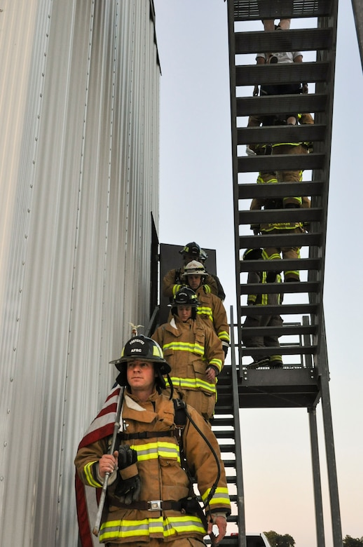 433rd CES firefighters pay tribute to 9/11 firefighters