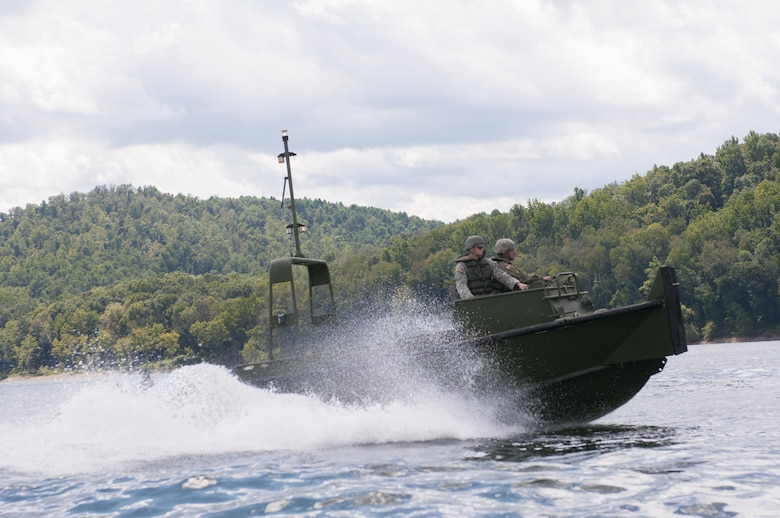 The Tygart Lake was used as training gounds on Friday, September 8, 2017 for the 459th Engineer Company, located out of  New Martinsville, West Virginia. The exercise required reserve Soldiers to assemble and disassemble pieces to form an Improved Ribbon Bridge.