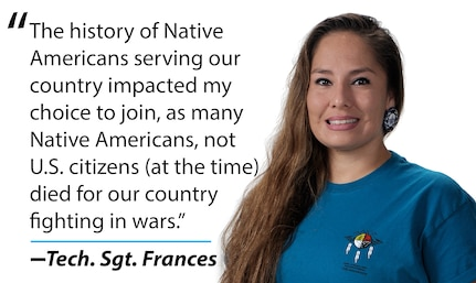 Technical Sergeant Frances photo and graphic with quote.