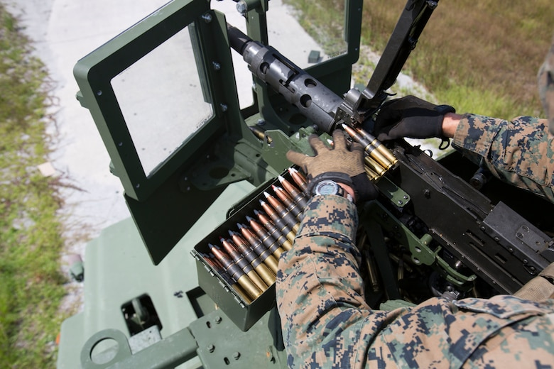 Marines with Motor Transport platoon, 2nd Amphibious Assault Battalion perform Gunnery Table 5 at Camp Lejeune, N.C., Sept. 7-9.