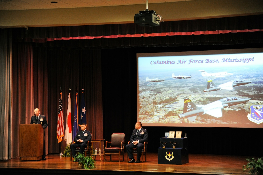 ACC Commander offers encouragement to newest AF aviators