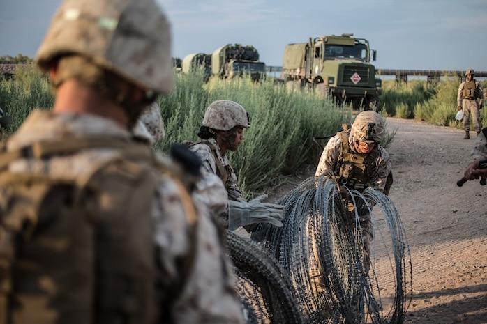 U.S. Marines with 1st Marine Logistics Group prepare for Deep Strike II