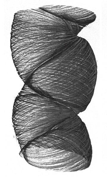 3-D rendering of a Twistron Yarn