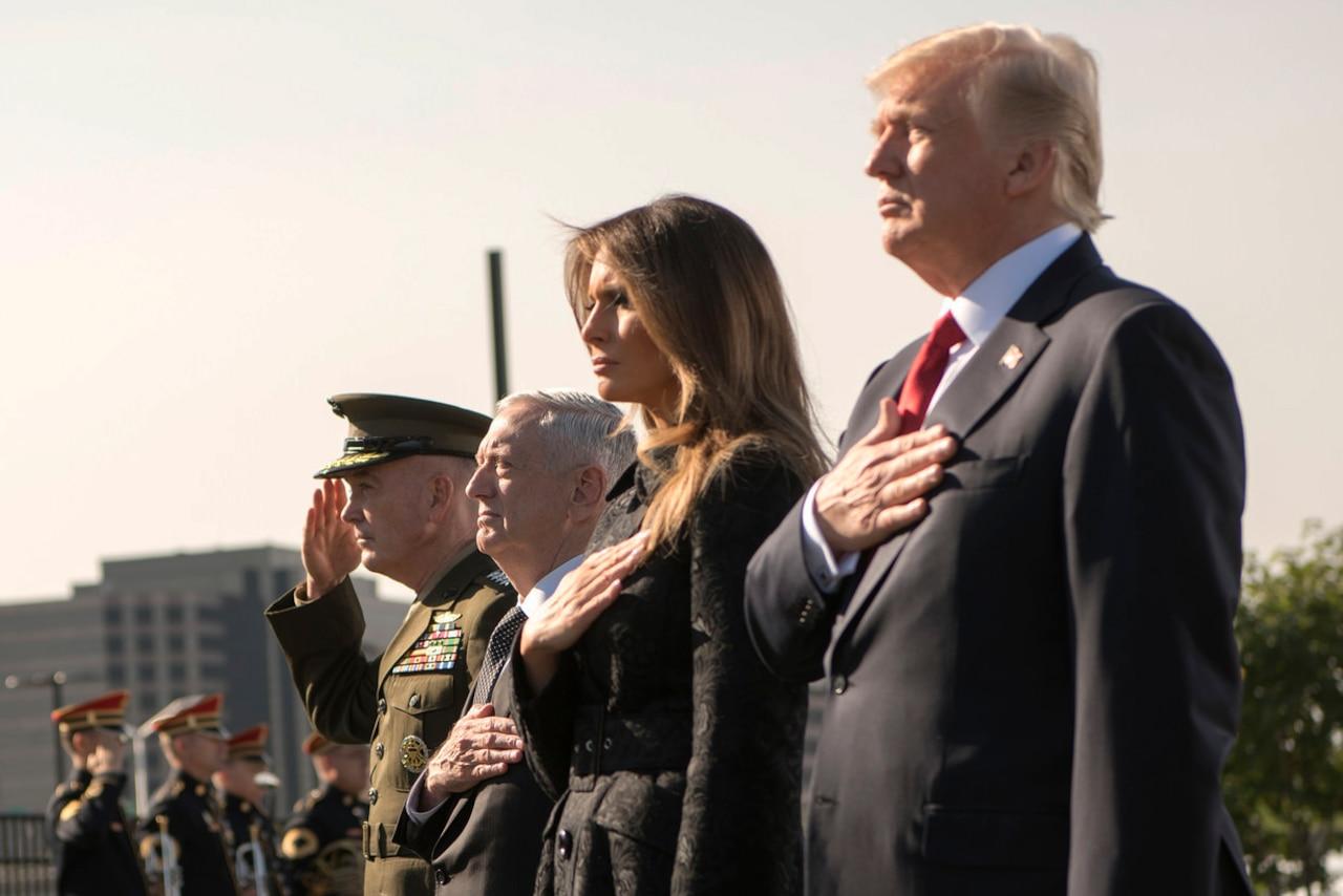 U.S. leaders render honors during 9/11 ceremony.