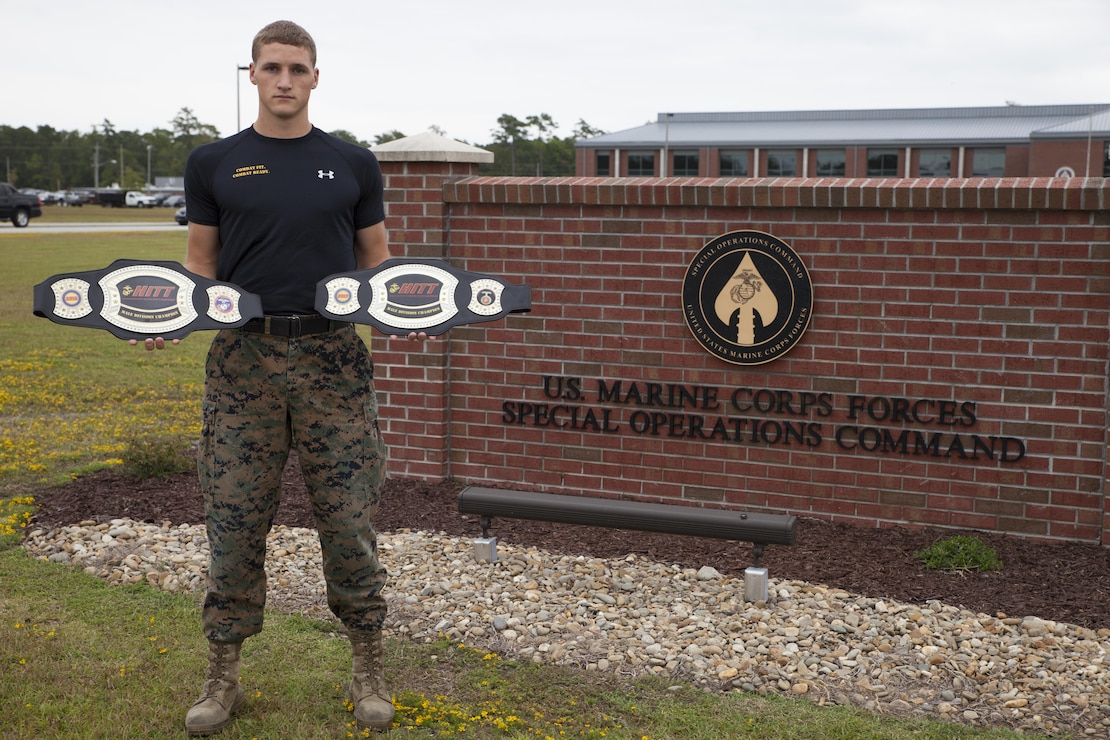 Sgt. Ethan Mawhinney, a Marine Air Ground Task Force planner with U.S. Marine Corps Forces, Special Operations Command, successfully defended his championship title at the Marine Corps third annual HITT Tactical Athlete Competition at Camp Pendleton, Calif., Aug. 28th through 31st, 2017.  The competition brings together the top male and female Marines from each Marine Corps installation in a demanding competition of military function fitness and to promote the advanced dynamics found in the High Intensity Tactical Training program.  (U.S. Marine Corps photo by Cpl. Bryann K. Whitley)
