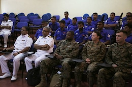 U.S., Sri Lanka Navy come together for Sri Lanka Health Engagement 17 opening ceremony