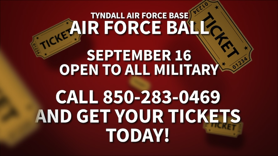 Team Tyndall, Col. Michael Hernandez and his wife, Liz Hernandez, request the pleasure of your company at the Air Force Ball Sept. 16, 2017.