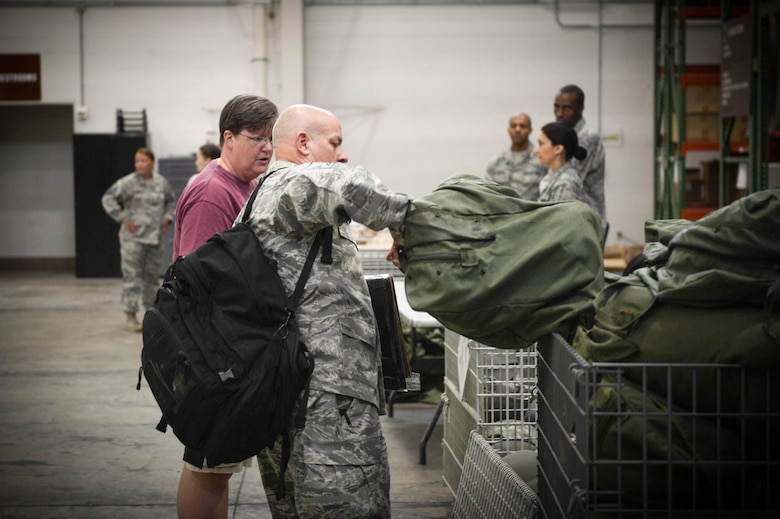 More than 10 reservists from the Air Force Reserve Command's 512th AW departed in support of the Hurricane Irma humanitarian relief effort.  (U.S. Air Force photo by Senior Airman Damien Taylor)