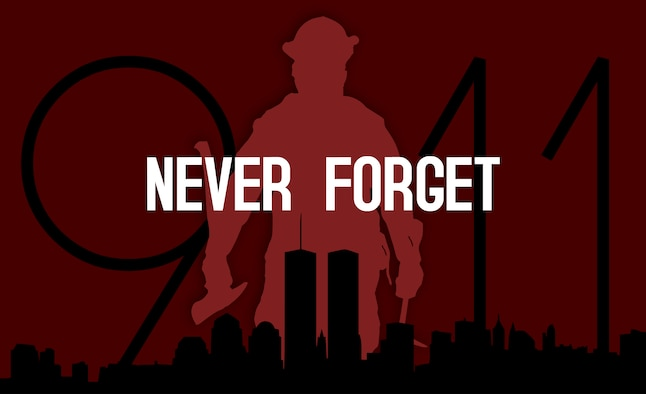 The 9/11 attacks resulted in the loss of 343 firefighters and 72 law enforcement officers. (U.S. Air Force graphic by Senior Airman Devin Boyer)