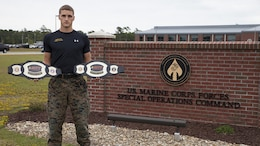 Sgt. Ethan Mawhinney, a Marine Air Ground Task Force planner with U.S. Marine Corps Forces, Special Operations Command, successfully defended his championship title at the Marine Corps third annual HITT Tactical Athlete Competition at Camp Pendleton, Calif., Aug. 28th through 31st, 2017.