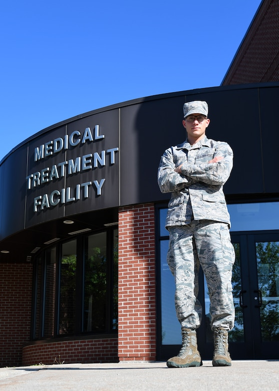 Senior Airman Alexis Lopez, dental assistant with the 319th Medical Group, currently works at the medical treatment facility on Grand Forks Air Force Base, N.D. He previously was stationed at Oshawa Air Base, Japan, and hopes to cross-train to become a pararescueman.