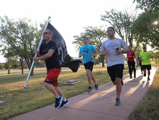 Team McConnell Airmen run to remember POW/MIA week